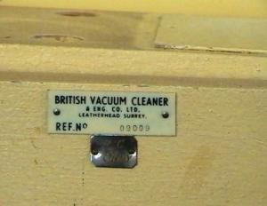A 1939 Goblin Teasmade D20 (serial number view; note the company was originally called the British Vacuum Cleaner & Eng. Co. Ltd.). Made in England