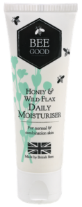 Bee Good Honey & Wild Flax Daily Moisturiser.  Made in Britain using British beeswax.