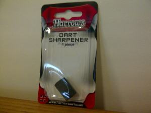 Harrows Classic / Basic / Standard - Round Stone - Dart Points Sharpener. Made in England.
