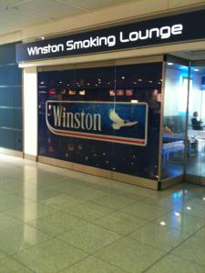 One of the smoking lounges at Munich airport, March 2012. Photograph by author.