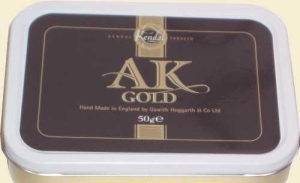 Gawith Hoggarth Auld Kendal AK Gold Hand Rolling Tobacco 50g Tin. Made in England.