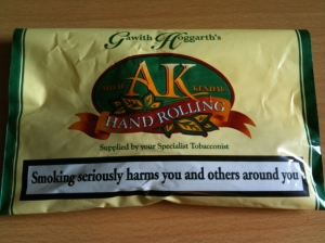 Gawith Hoggarth Auld Kendal hand rolling tobacco. Made in England.
