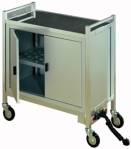 KAYMET ELECTRIC HOT PLATE TROLLEYS & HOT CABINETS.  Made in England.  Image HC70_silver2