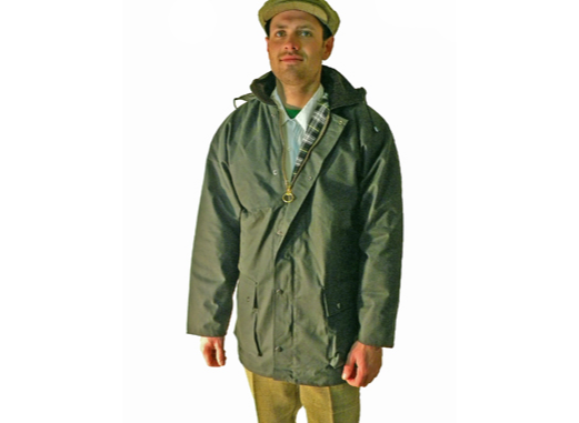 Campbell Cooper Green British Wax Cotton Padded Jacket. Made in England.