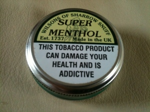 Sharrow Snuff - Super Menthol. Made in the UK