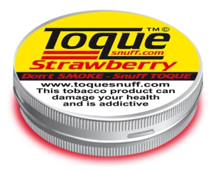Toque strawberry snuff. Made in the UK