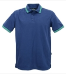 Josery 503 Men's Polo Shirt with double stripe trim. British made.