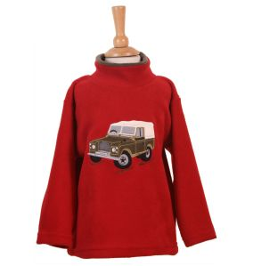 Ramblers childrens embroidered '4 x 4' Land Rover crew neck fleece.  Made in the UK.