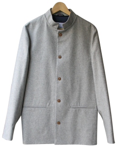 Sir Plus LIGHT GREY NEHRU JACKET. Made in England.