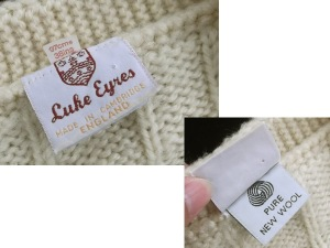 A Luke Eyres cricket jumper (view 2; made in England label).