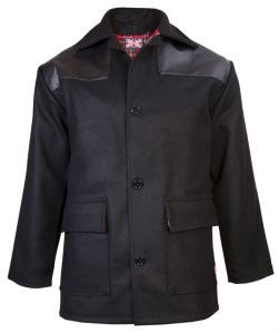 Combat Donkey Jacket, with Leatherette Shoulders. Made in England.