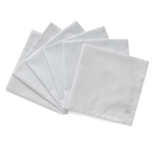 WHITE ON WHITE PURE COTTON HANDKERCHIEFS. Made in England by Turnbull & Asser.