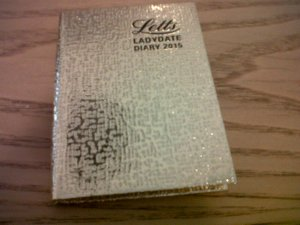 Letts LADYG Ladydate Mini Pocket Diary 2015. Made in Great Britain (front view).