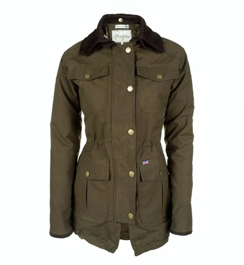 Made in England from British Millerain wax cotton, Peregrine Ladies jacket - Field coat- Khaki