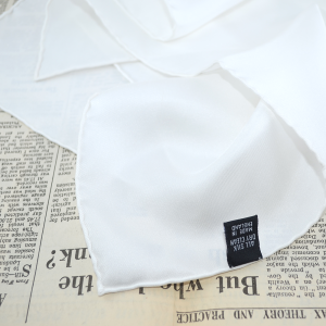 Monsieur London Eleanor white handkerchief. Made in England.