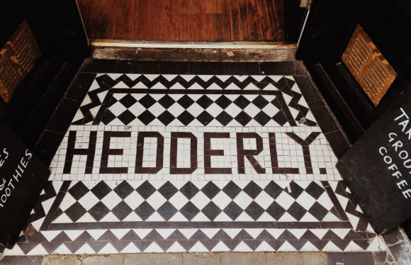 Another entrance floor mosaic at nearby 14 Turl Street (now the Missing Bean café). William Hedderly was a firm of tobacconists and cricketing and lawn tennis outfitters, with shops at 14-15 Turl Street and 98 High Street. June 2013.