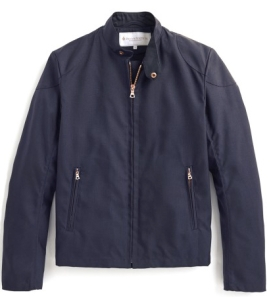Private White V.C. RAINRIDER JACKET - NAVY NYLON. Made in England