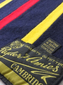 Ryder & Amies Trinity Scarf (un-crested). Made in England.