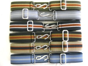 Elasticated snake belts BR750 on the Darcy Clothing website. Made in England.