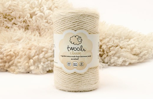 Twool Classic 100m au naturel twine. 100% British Wool. Made in Britain.