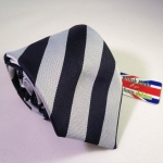 Wrexham Club Ties School Tie - ST TRINIAN'S Ties Navy BLUE/GREY. Made in the UK.