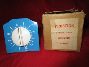 Vintage Prestige 1 Hour Timer (with Smiths Mechanism). Made in Britain. Front view