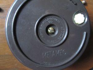 Vintage electric mantel clock by Metamec. Made in England, Rear mechanism view.