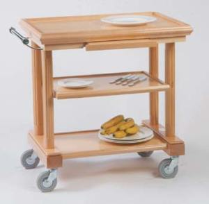 3 Tier Gueridon Trolley. A service trolley by The Trolley Shop. Made in the UK.