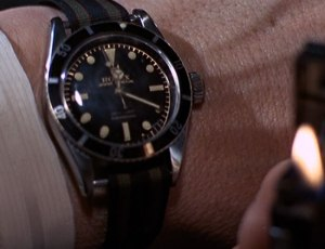 As worn by Mr Bond in the movie Goldfinger. A NATO style strap (with a Swiss made watch).