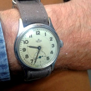 Grey Fox's Smiths DeLuxe watch. Made in England.