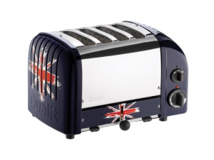 Dualit 4 SLOT UNION JACK TOASTER. Made in the UK.