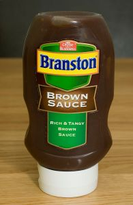 Branston Brown Sauce. Produced in the UK.