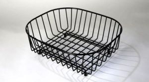 British Drainers Black Oval Sink Basket CODE: del2947bk. Made in England.
