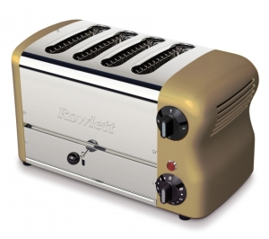 Rowlett Rutland ESPRIT 4 SLOT BREAD TOASTER GOLD . Made in the UK.