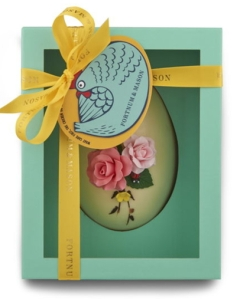 Fortnum and Mason Hand Decorated White Chocolate Egg 227g made in England