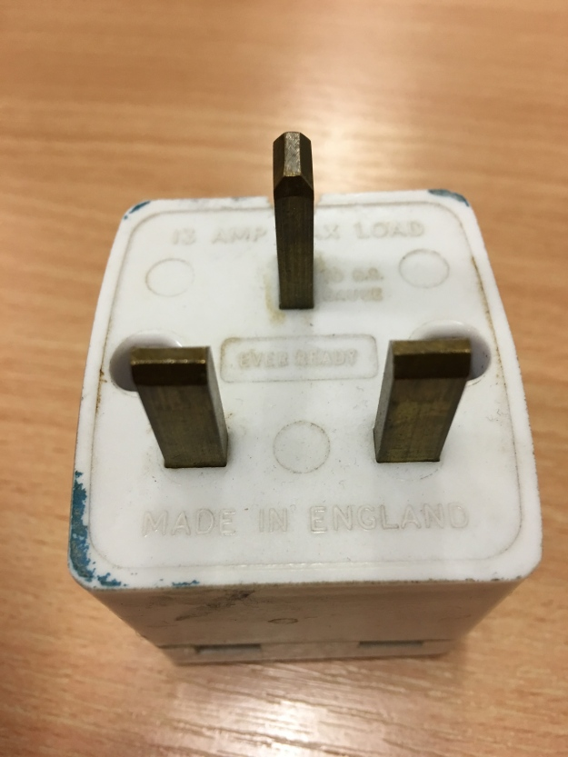 A vintage Ever Ready made in England double UK multi plug. Still in full working order.