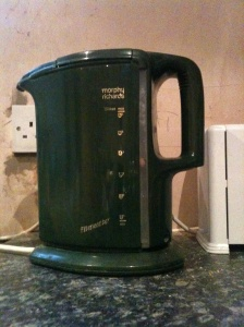 A vintage made in England Morphy Richards kettle. Sadly Morphy Richards have closed their UK factories and no longer make kettles in the UK.