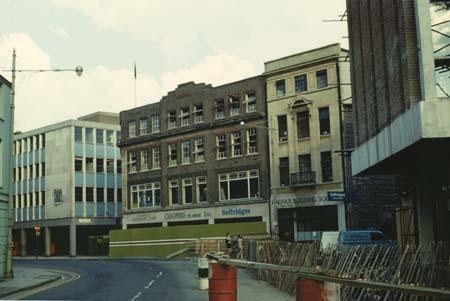 Sefridges 1973 under construction. Selfridges has earlier taken over Coppers Department Store.