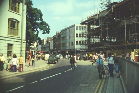 Selfridges being built 1973