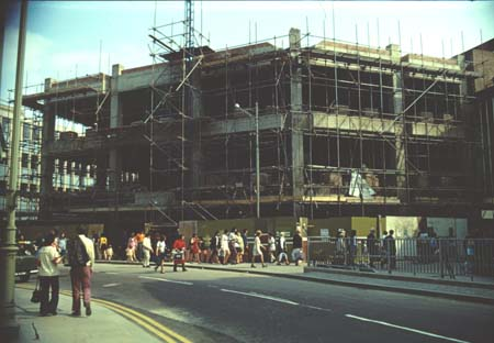 Selfridges under construction 1974