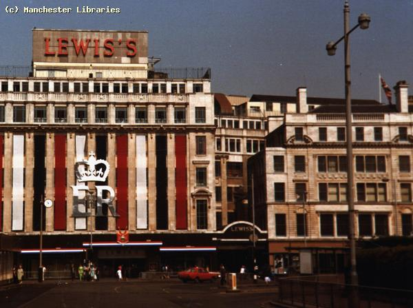 Jubilee Celebrations, Lewis's, Manchester. 1977.