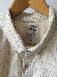 "Travelling Light shirt. Sized XL 17½"" collar. Made in the UK."