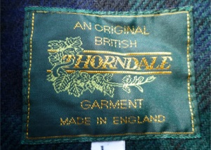 A Thorndale garment label, November 2016
