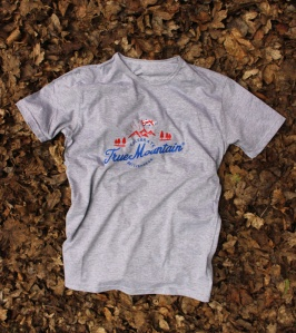 True Mountain Celebrate Britishness Grey-t-shirt. Made in Britain.