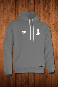 HUGGA HOODY - GREY. Made in Britain.