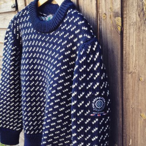SHACKLETON HEAVY NORDIC SWEATER. Made in England from British wool.