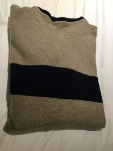 A vintage Burton Menswear made in UK fleece jumper