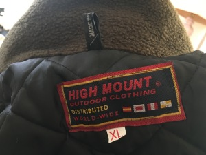 A High Mount Outdoor Clothing made in England padded fleece jacket.