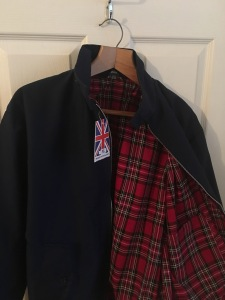 Men's Classic Harrington Fully Manufactured In The UK 1970'S Retro Bomber Jacket on eBay (25/1/17). Photograph by author. View 2.