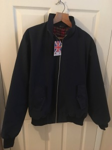 Men's Classic Harrington Fully Manufactured In The UK 1970'S Retro Bomber Jacket on eBay (25/1/17). Photograph by author. View 1.